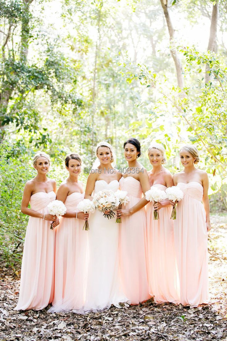 High quality long baby pink bridesmaid dress buy cheap long baby long baby pink bridesmaid dress ombrellifo Images