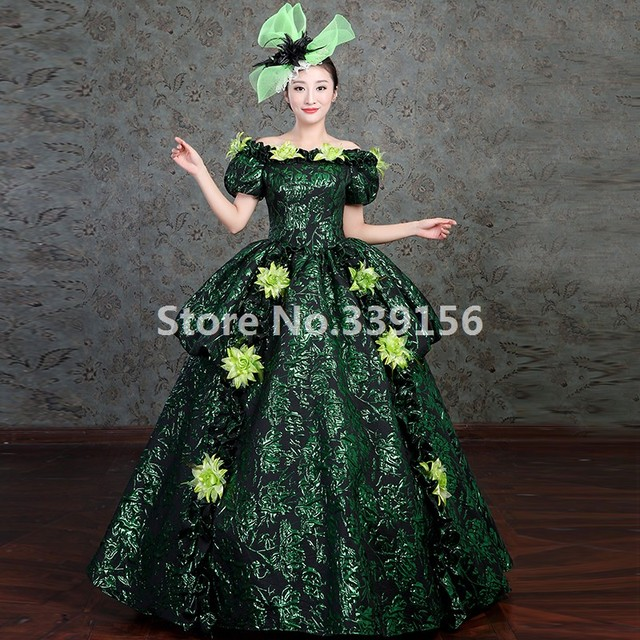Marie Antoinette Period Dress 18th Century Gown Upscale Halloween ...