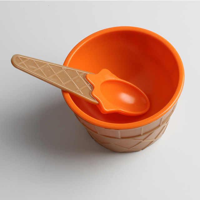 ไอศกรีมชามช้อนสลัดชามห้องครัวสลัดจานรองซอสมะเขือเทศ Dip คลิปถ้วยชามจานรองชุดครัวเครื่องมือ