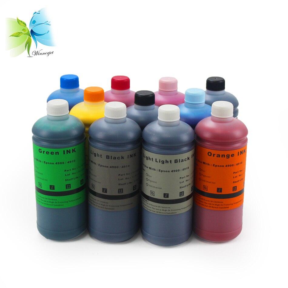 Winnerjet 11 color WaterProof vivid Pigment ink for Epson 4900 4910 printer-1000ml/bottle