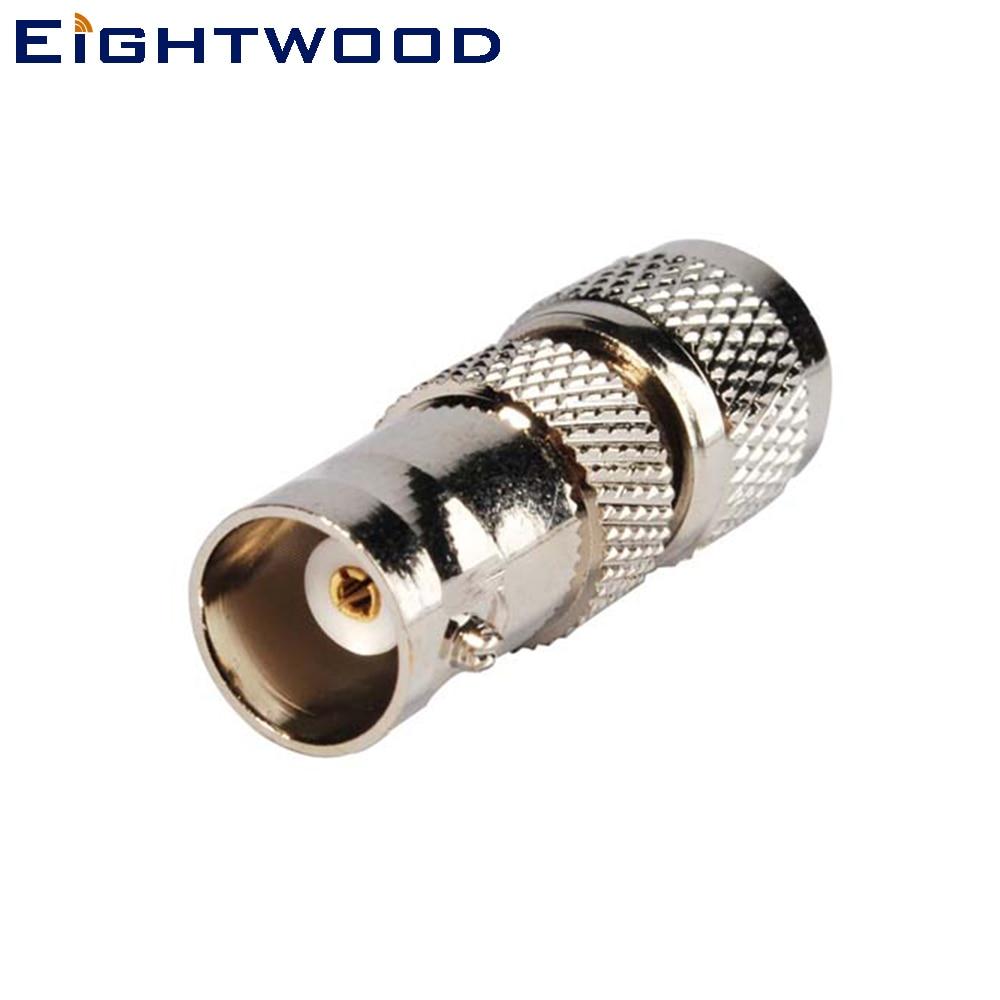 Eightwood רכב רדיו ווקי Talkies מתאם אנטנה BNC ג'ק Mini-UHF Plug PL-259 מחבר עבור Wouxun BaoFeng TYT קנווד