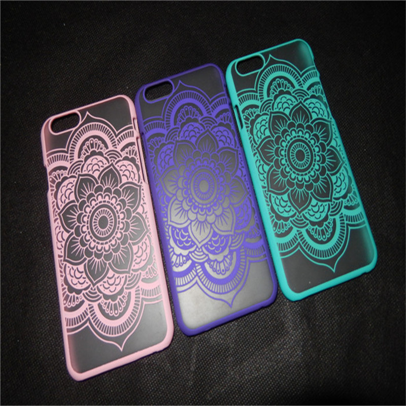 YENI Klasik Dantel Mandala Çiçek Telefon Kılıfları Apple iphone - Cep Telefonu Yedek Parça ve Aksesuarları - Fotoğraf 3