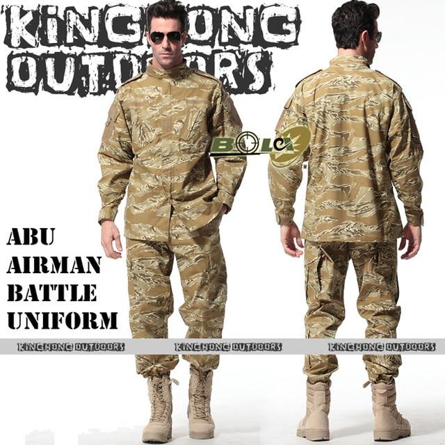 42ff0e70db6 BDU TRU-SPEC DESERT TIGER STRIPE Camouflage suit sets Army Military uniform  combat Airsoft uniform -Only jacket & pants(12034)