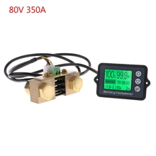 DC 8-80V 350A Precision Battery Tester for LiFePO Coulomb Counter LCD Digital Battery Coulometer with Shielded Wire 80v 350a tk15 precision battery tester for lifepo coulomb counter lcd coulometer aug 26