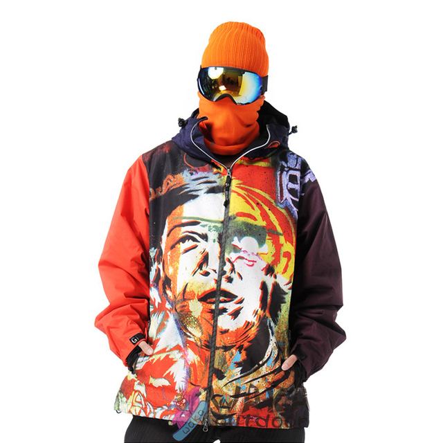 dafb8c5a84 Waka outdoor Men snowboard Outdoor Snow Sport Skiing Jacket Waterproof  Windproof Breathable Thermal Snowboard Jacket for Men