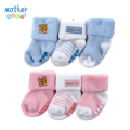 Luvable Friends 3pcs/lot New 2016 Lovely Winter Baby Socks for Babies Girl Kids Accessories New Born Sock Meias