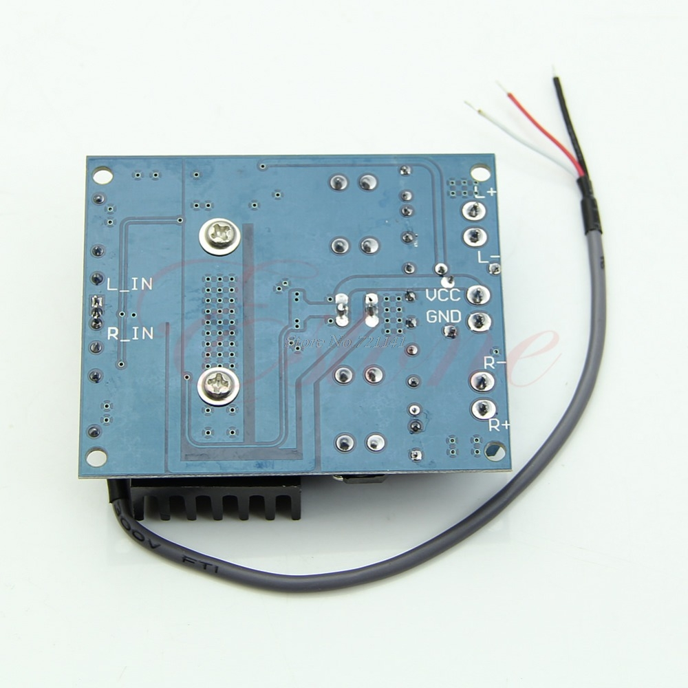 New Tda7492 D Class High Power Digital Amplifier Board 2x50w Amp Audio Circuit Blue Silver Radiator In Integrated Circuits From Electronic Components Supplies On