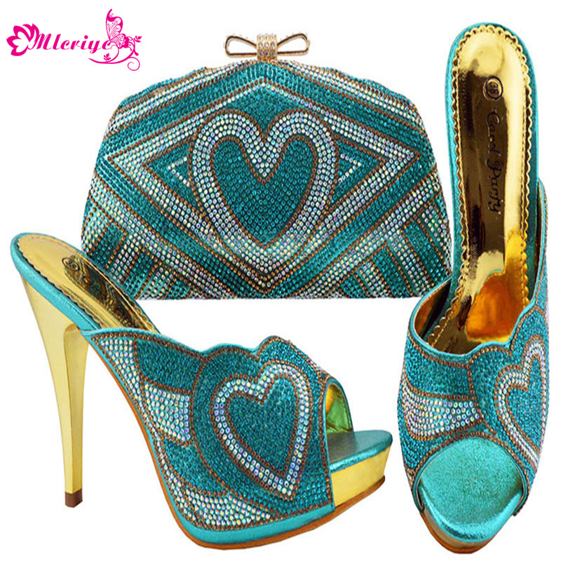 JZC005-S.BLUE Nigerian Wedding African Party Shoes And Bag Set Fashion Woman Heels Pumps Matching BagJZC005-S.BLUE Nigerian Wedding African Party Shoes And Bag Set Fashion Woman Heels Pumps Matching Bag