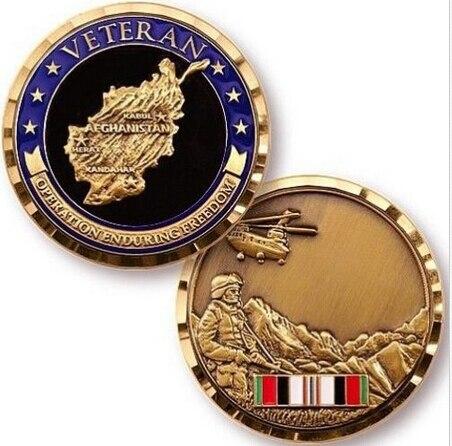 Vysoce kvalitní AFGHANISTANSKÝ VETERÁNSKÝ KOMBATOVÝ SERVIS COAL MEDALLION MEDAL na zakázku suvenýrový medailon FH810136