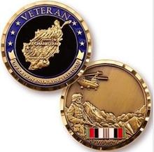 High quality AFGHANISTAN WAR VETERAN COMBAT SERVICE COIN MEDALLION MEDAL  custom souvenir medallion  FH810136 стоимость
