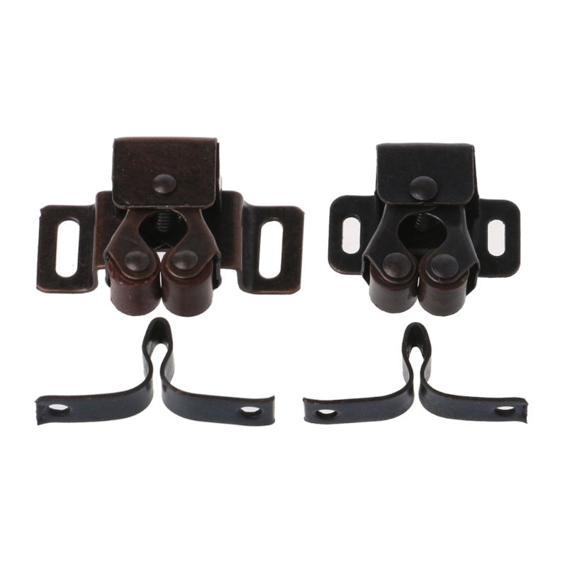1 PC Double Roller Catch Bronze Double Roller Catches Cupboard Cabinet Door Latch Hardware Door Clip High Quality