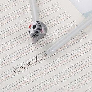 Image 4 - 40 Pcs Creative קריקטורה חתלתול ניטראלי עט חמוד סיליקה ג ל ראש תלמיד Waterborne משרד מכתבים שחור מחט עט