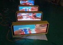 Двухсторонний Рекламный светодиодный такси верхний знак/крыша p5 беспроводной такси сид верхний свет дисплея
