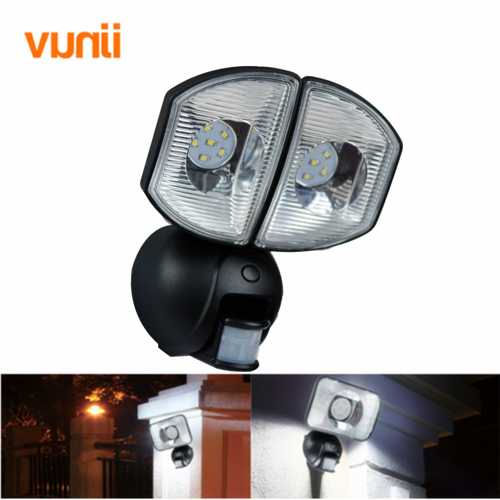 Yunji IP65 Twin Heads 2*6 LED Security Solar Light PIR Motion Sensor or DC Charge emergency Wall Lamp for Path Stairs Garden nightwish nightwish over the hills and far away special celebration edition 2 lp page 3