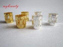 100 unids/lote dorado/plateado trenza de pelo pavoroso cuentas rastas ajustables puños clips Micro anillo niñas mujeres hombres Accesorios