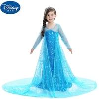 Disney 2019 new doll accessories skirt girls Frozen short sleeved dress elsa princess dress Halloween children's clothing