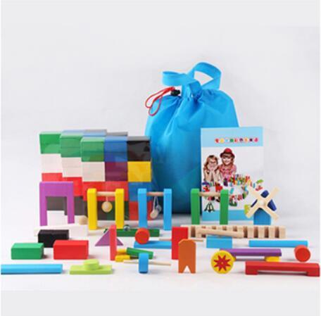 Смесь цветов домино деревянные игрушки кубики безопасная, из дерева игрушки для детей интеллектуальная игра взрослых Игрушка антистресс Семья игры Новинка подарки - Цвет: 360pcs 24 blocks set
