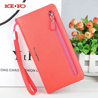 Zipper Purse Women Wallet Purse Phone Pocket Wallet Case ForMeizu MX4 MX5 MX6 Pro 5 6
