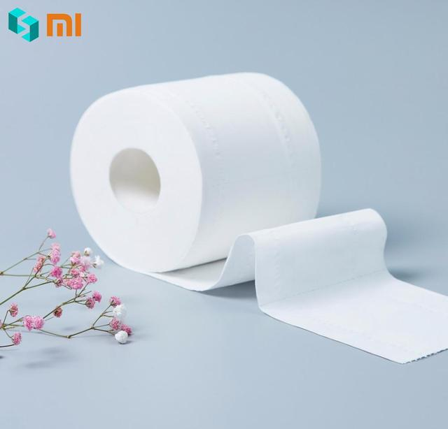 Xiaomi Wuro Xiujia четыре слоя утолщающий для туалета бумага дома для ванной Гостиная Туалет s рулон ткани семья ежедневно применение