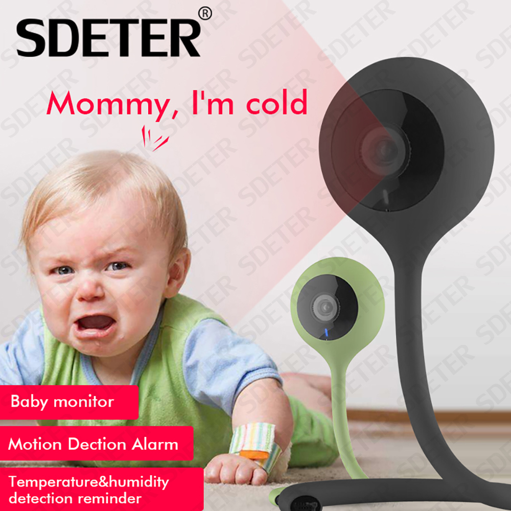 SDETER Nanny Baby Monitor Wireless Wifi Camera 2 Way Audio Cloud IR Night Vision Security Camera Temperature Monitoring Lullaby wireless lcd audio video baby monitor security camera baby monitor with camera 2 way talk night vision ir temperature monitoring