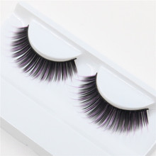 1 pair Long Natural Eye Lashes High Quality Fake False thick   Makeup  Eyelash Extension