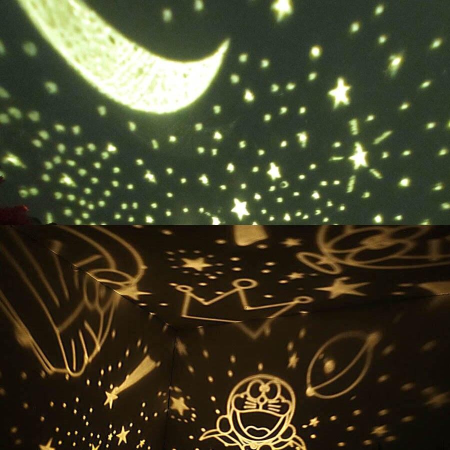 2017 Romantic Rotating Spin Night Light Projector Children