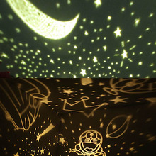 2017 Romantic Rotating Spin Night Light Projector Children Kids Baby Sleep Lighting Sky Star Master USB Lamp Led Projection