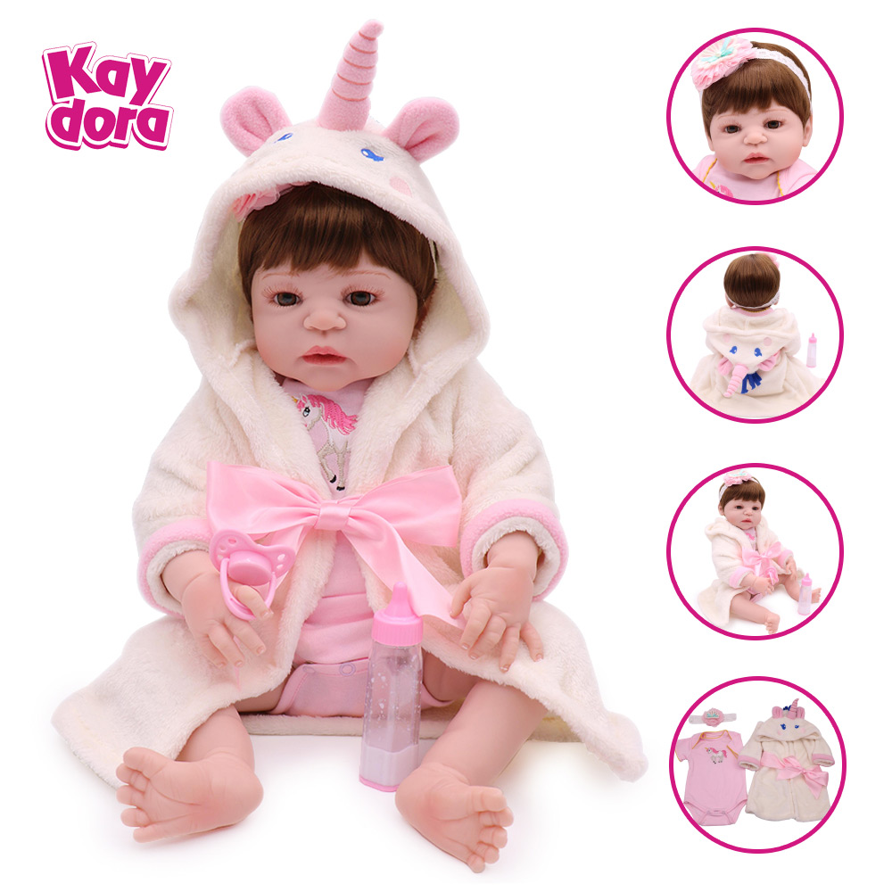 KAYDORA 22 inch 55cm Full Silicone Reborn Baby Dolls Baby Alive Lifelike Bebe Reborn Real Realistic Girl Doll Toys Cute