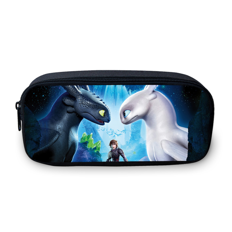 Veevanv Hoe To Train Your Dragon 3d Afdrukken Potlood Zakken Voor Meisjes Jongens Kids Kinderen Pen Houder Potlood Pouch School Bag Purse Weelderig In Ontwerp