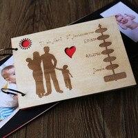 Wedding Guest Book, Rustic Custom Guest Book, Wedding Keepsake, Established Family, Laser Engraved, Bridal Shower, wedding guest