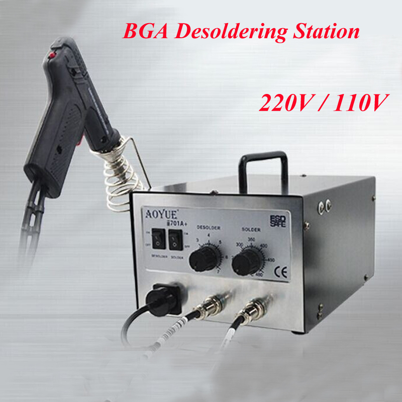 ESD Repairing System BGA Desoldering Station Solder Sucker + Soldering Station I701A+ esd safe 75w soldering handpiece t245a solder iron handle for di3000 intelligent soldering station