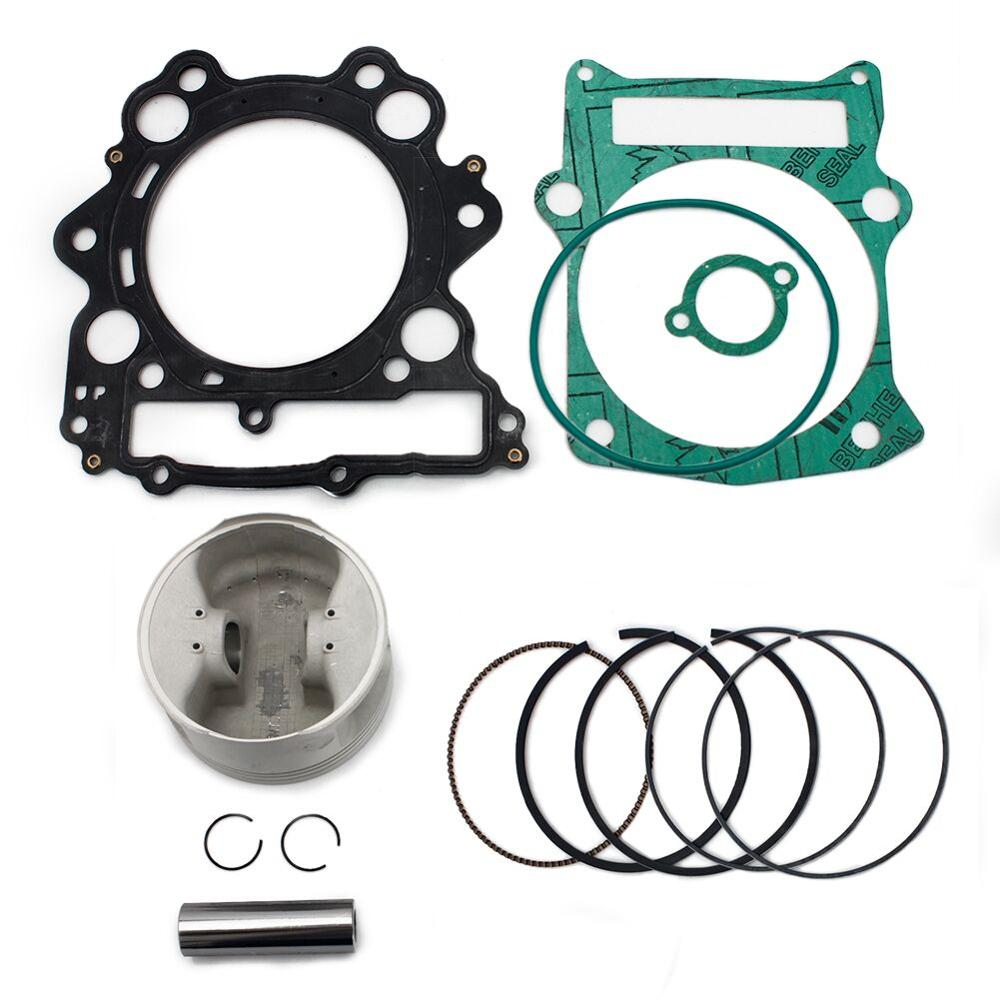 BIKINGBOY Full Set Piston Kit O-Ring Gaskets Piston Top End For Yamaha YZFM660F Grizzly 2002-2008 YXR 660 Rhino 2004-2007