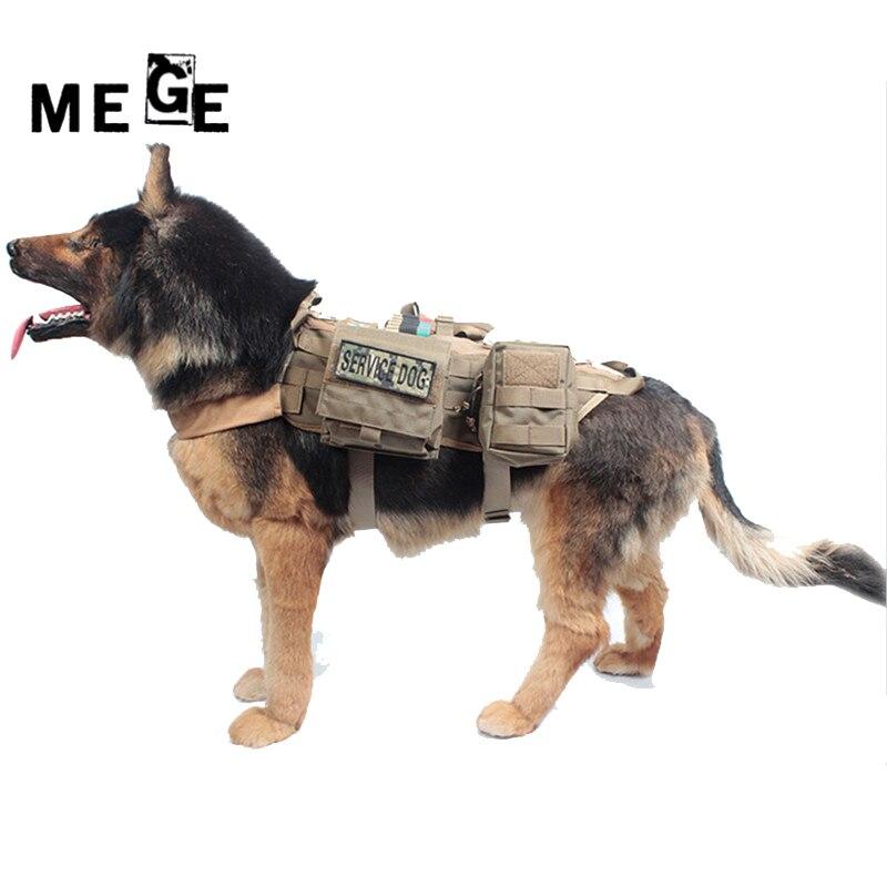 Mege Собака куртка с Молл emt первой помощи мешочек, тактический кинологический Молл жилет жгут Военная Униформа несущей Охота SWAT