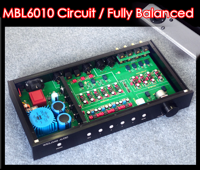 2017 New Nobsound HiFi Fully Balanced/Single-Ended Preamp Audio XLR/RCA Pre-Amplifier MBL6010 Circuit music hall luxury fully balanced pre amp hifi preamplifier xlr input remote control led refer to ml380s