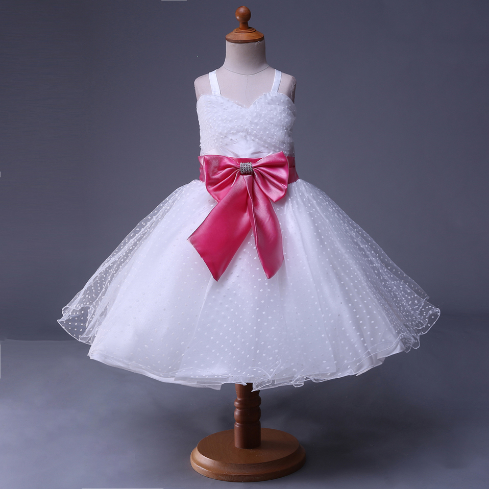 291401027935f Cutestyles Big Girl Party Dresses Flower Belt Wedding Guest Ankle ...