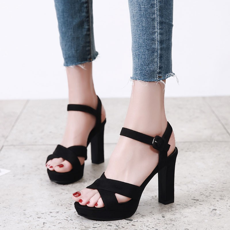 Mot Talons Femmes Ouvert Nouveau Sexy Noir D'été Chaussures À Beige lFcKJ1