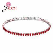 10 Color Gorgeous Narrow Bracelet for Women Girls High Quality S90 Crystal Jewelry for Wedding Party(China)