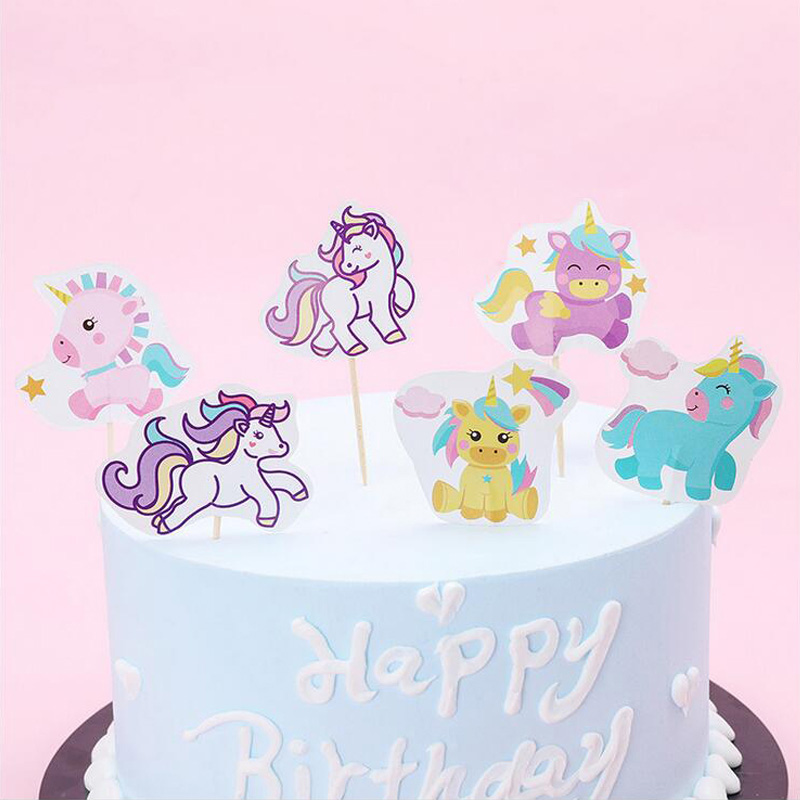24PCS Birthday Party Sofia Princess Decorate Kids Favors Mickey Cars Unicorn Dinosaur Super wings Design Cake Topper With Sticks in Cake Decorating Supplies from Home Garden