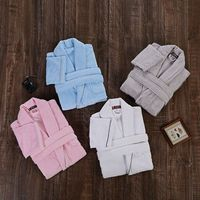 Women Bathrobe Cotton Winter Towel Fleece Kimono robe Casual Homewear Bridesmaid Dressing Gown Female Warm Loose Bride Robe