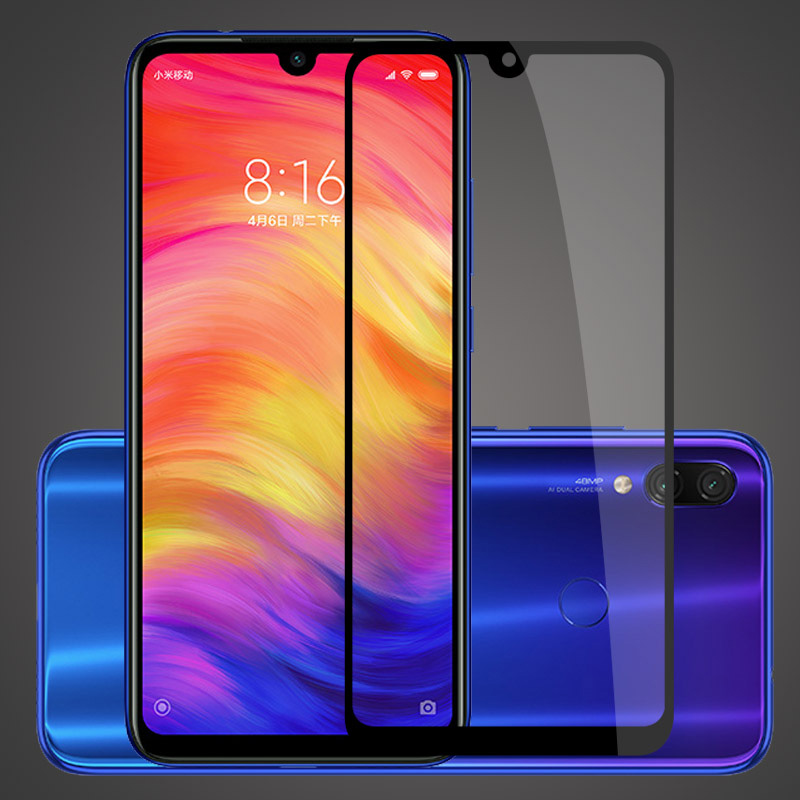 Protective Glass For Xiaomi Redmi Note 7 Glass On For Redmi K20 Note 6 Pro 7A 6A Tempered Glass Screen Protector Full Cover Flim