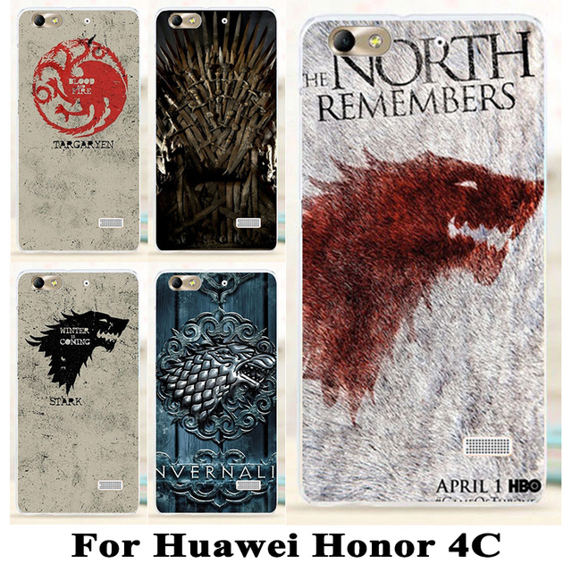 Game Thrones Hard Plastic Phone Case For Huawei Honor