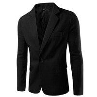 Người Đàn Ông phong cách Jacket Kinh Doanh của Casual Slim Fit One Button Phù Hợp Với Blazer Giải Trí Coat Trắng Jacket Top Outwear Quá Khổ XXXL quần áo