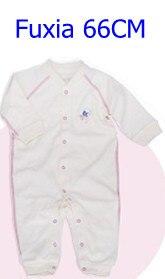 Комбинезоны для маленьких мальчиков и девочек, коллекция года, Одежда для новорожденных и малышей, детский хлопковый комбинезон с длинными рукавами, Красивый хлопковый комбинезон унисекс - Цвет: 66CM FUXIA