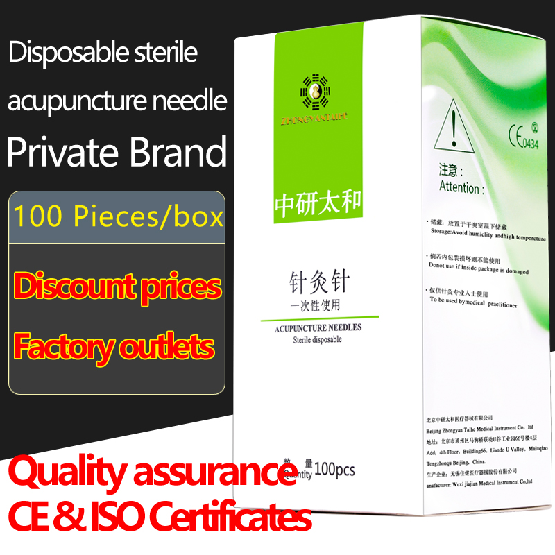 100pcs/box Zhongyan Taihe Acupuncture Needle Disposable Needle beauty massage needle with tube disposable sterile acupuncture needle steel acupuncture needles square if order 10 box best