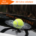 NEWEST  Car Styling  broken style tennis ball  Tricky sticker  all car windows  broken texture non gule sticker