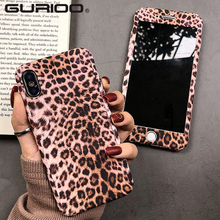 360 Degree Full Body Leopard Print Phone Case For iPhone 11 Pro Max X XR XS 6 6S 7 8 Plus 5 Hard Protection Cover Tempered Glass-in Fitted Cases from Cellphones & Telecommunications on AliExpress