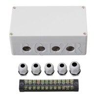 BQLZR Cinza Branco 12 Bits Conector À Prova D' Água Caixa de Junção Elétrica de 1 a 4