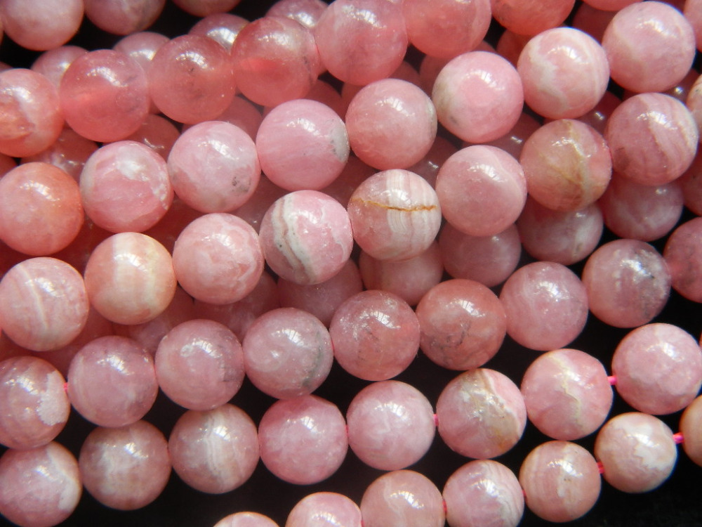 Free Shipping 51 pieces set 33g natural rhodochrosite 6 8 7 3mm smooth round loose beads