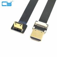 FPV de 90 Graus Em Angulo MiniHDMI Macho para HDMI cabo FPC Flat Cable0.2 m 0.3 0.5 1 MulticopterAerea fotograf