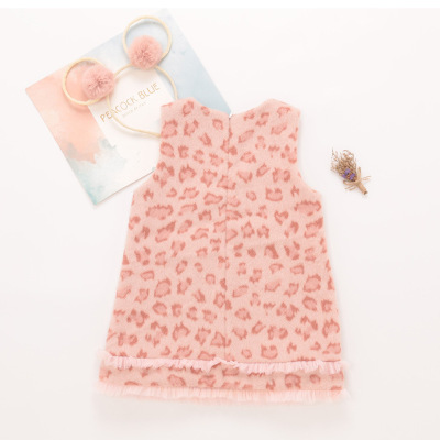 Toddler Dresses Brand Pink Leopard Strap Dress Sleeveless Girl Clothing 2 3 4 5 6 Years Baby Princess Dress Party Dress for Girl